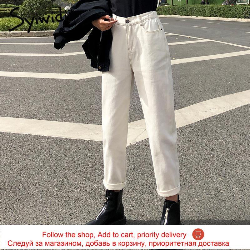 Anne 4 Renk Kadın Elastik Bel Yüksek Wais Artı Boyutu Denim Pantolon Erkek Arkadaşı Kot Kadınlar Için Yıkanmış Pamuk 2021 Fashio 8AD9