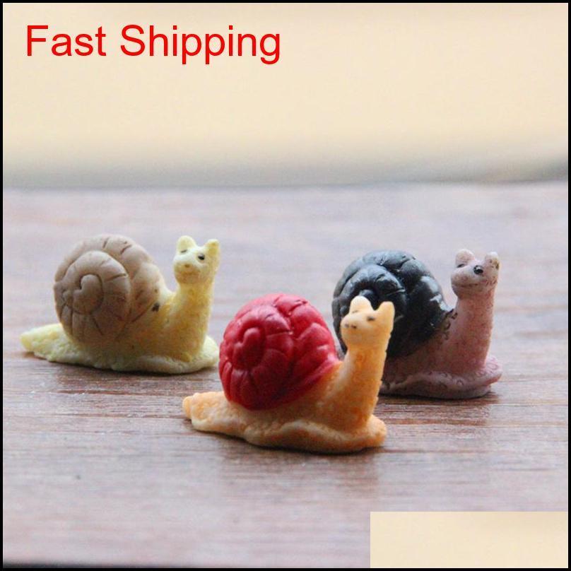 Venta ~ 20pcs caracol / de hadas GNOME Animales / Moss Terrarium Home Desktop Decor / Crafts / Bonsai / Doll House / Miniatures / DIY HCWZO CIBUF