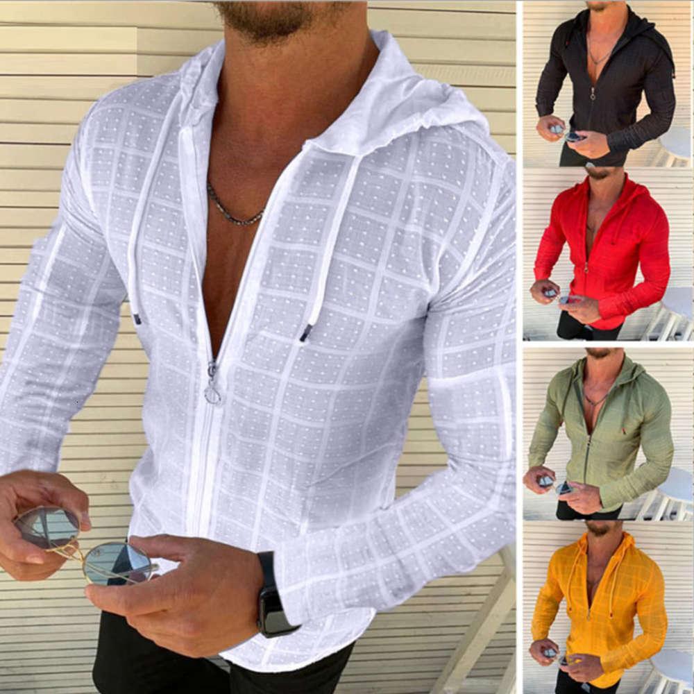 Casual Ince Uzun Kollu T-shirt erkek Üst Tee Jakarlı Giyim Hediye Erkekler Için Tshirt Beyaz Kırmızı Yeşil Siyah Sarı Tişörtleri