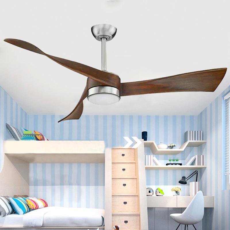Nordic деревянные старинные потолочные вентиляторы с огнями Пульт дистанционного управления Ventilador de teto спальня гостиная коричневый светодиодный свет для дома