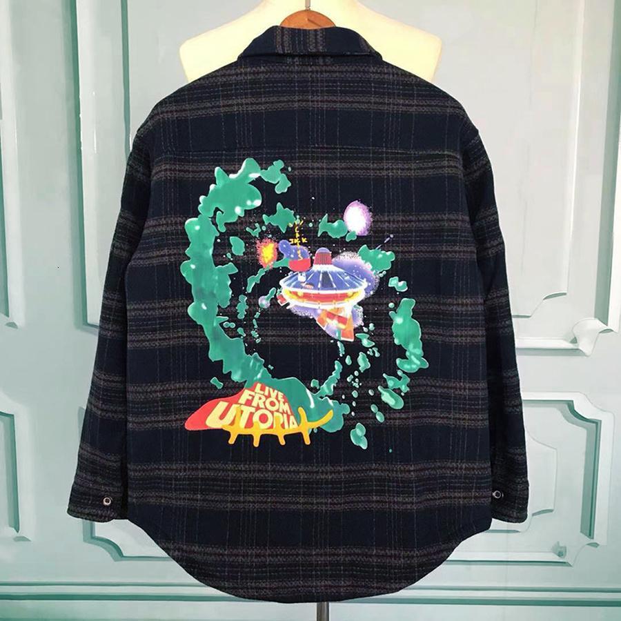 2021 Nova xadrez Travis Scott Cactus Jack Jack Jacket Hoodies Homens Mulheres Mulheres Camisa Lã Jersey Casacos Pullover Kmj0