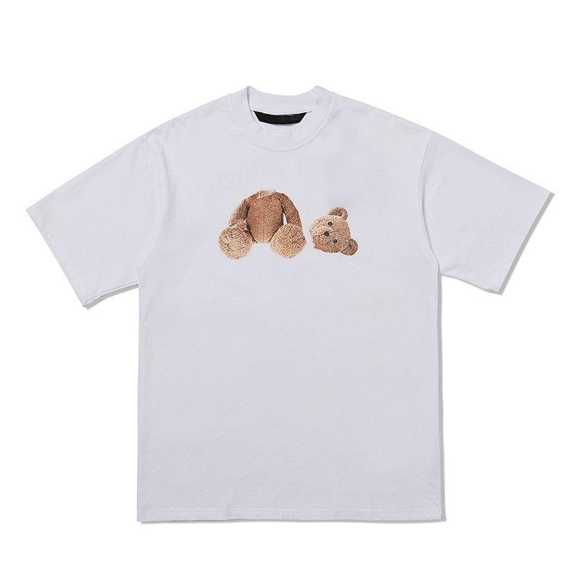 Femmes coton tshirt manches courtes designer extérieur hommes beaux ours croco dessin animé lettre imprimé eshirt