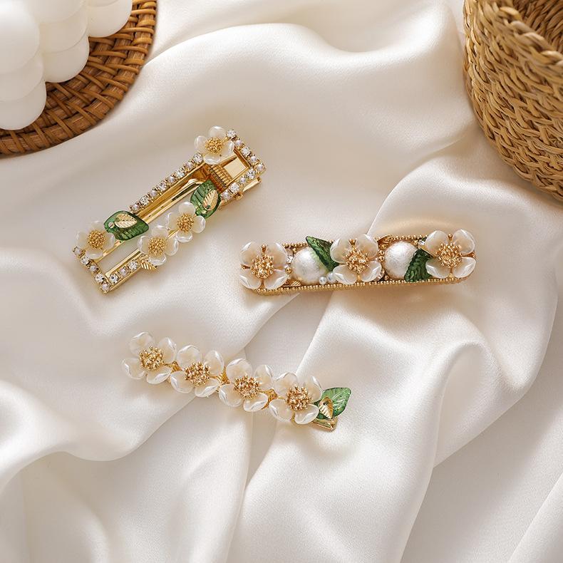 Новая мода элегантная свежая оболочка цветы и листья барьерные орнаменты невесты шпильки ретро смоделированные жемчужные волосы зажима