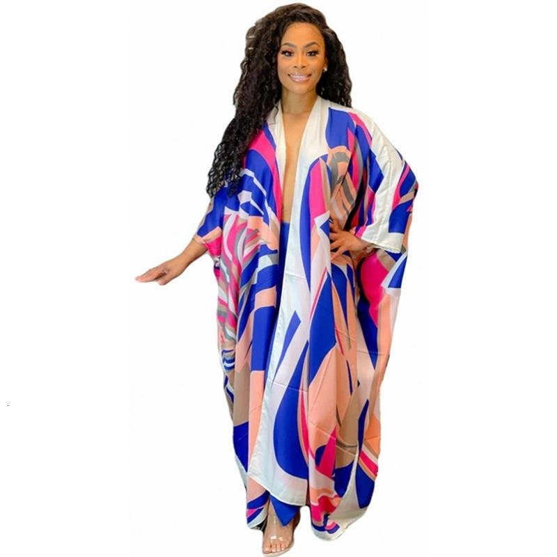2021 Yaz Baskılı Bikini Oto Zarif Kapakları ile Komono Sıkışmış Bornozlar Artı Boyutu Plaj Giymek Suit Yüzme Kapak UD3C