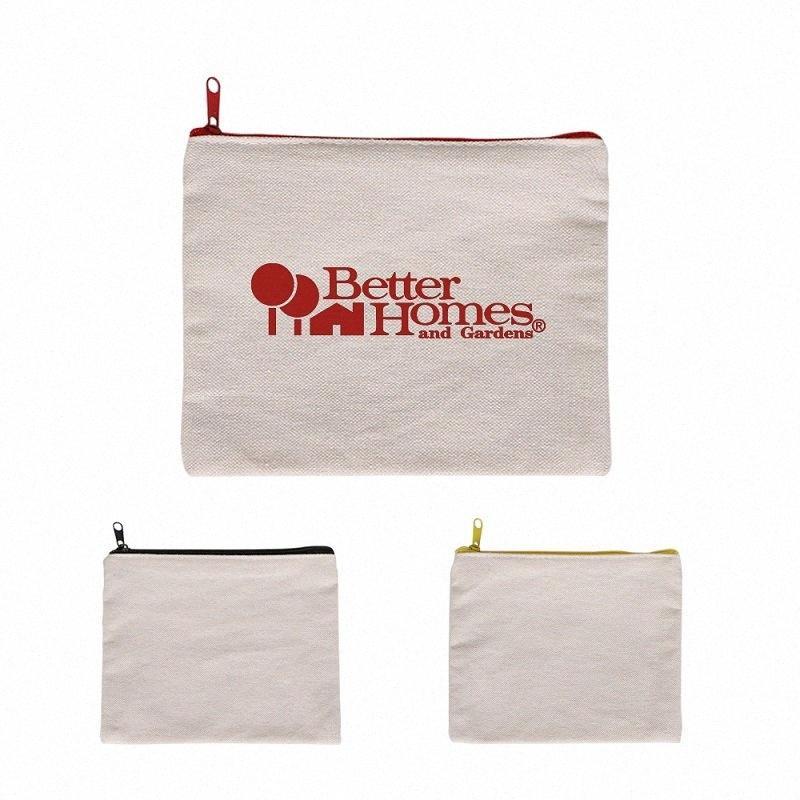 124485 100 pcs Lona em branco sacos cosméticos sacos zíper sacos lápis em branco DIY artesanato malotes caso caixa de moeda personalizado lona i9ed #