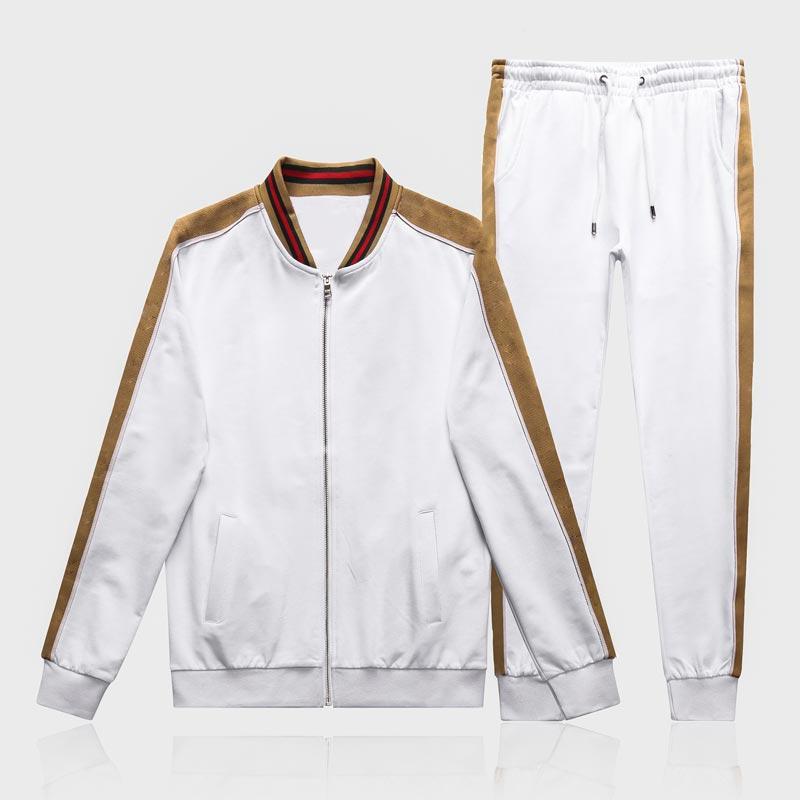 Hombres diseñadores con capucha con capucha Pantalones Conjunto Chándal con capucha Mens Sweat Suits Patchwork Negro Sólido Color 2021 Otoño Invierno 2 Unids Sudaderas Soporte
