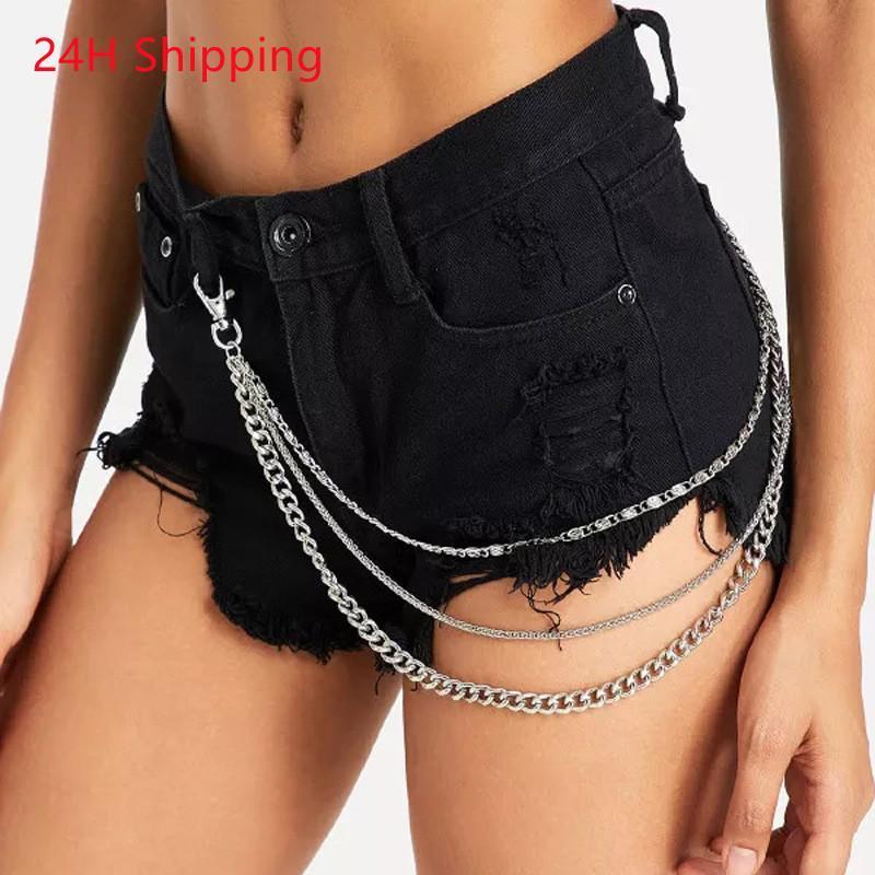 Ремни 2021 Сексуальные джинсы талии цепи женские металлические брюки тела панк стиль все-матча личности женщины падение