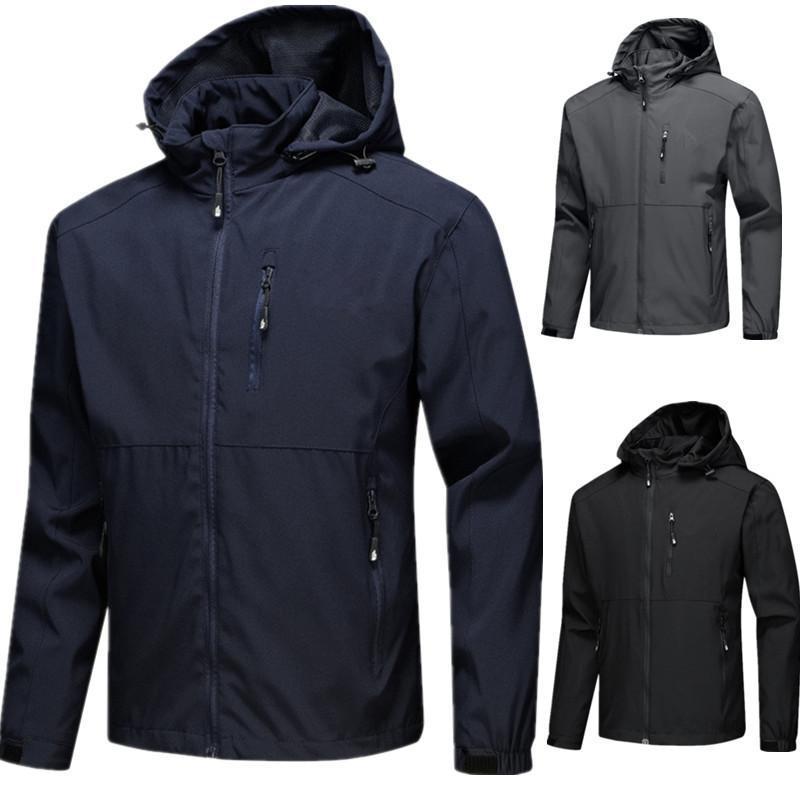 2021 뜨거운 남성 자켓 긴 소매 방수 재킷 윈드 러너 남자 지퍼 방수 재킷 지퍼 까마귀 의류가 최신의 옷을 입고