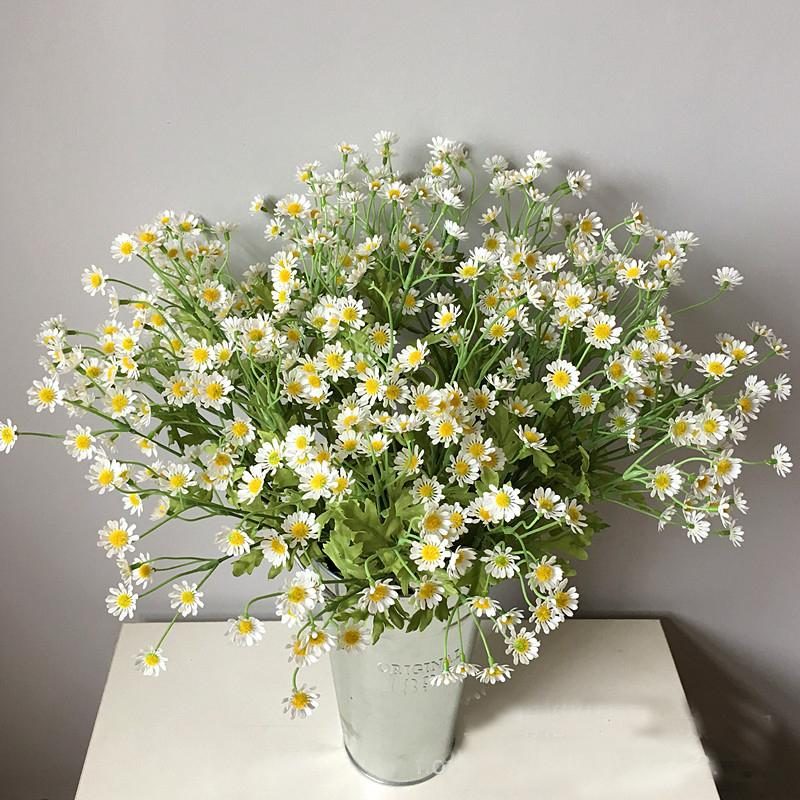 Artificial Daisy Flowers Silk Fake Chamomile Flowers Stamen Small Daisy for Wedding Home Table Decor