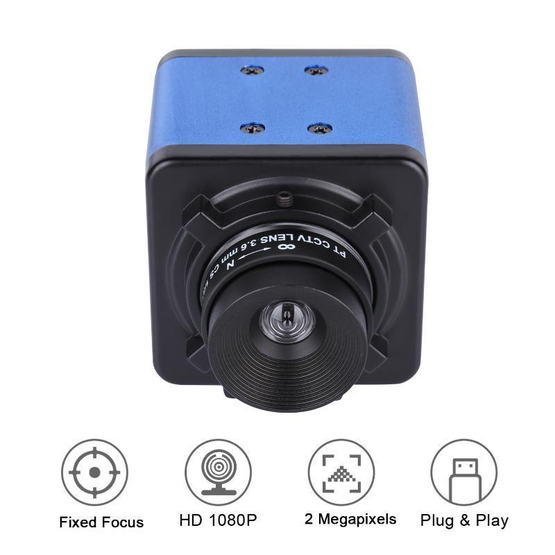 웹캠 1080P HD 카메라 컴퓨터 웹캠 2 메가 픽셀 고정 초점 85도 와이드보기 수동 자동 노출 보정