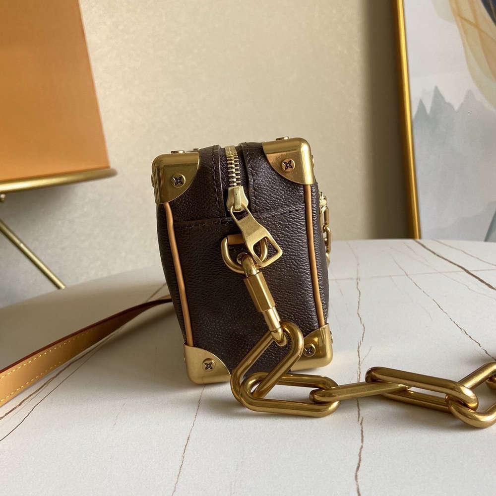 Maleta de lujo con cremallera Billetera de Diseñador Mini Mini Soft Tronco Cadenas Bolsas de cuero genuino 7A CALIDAD DE CALIDAD DE CALIDA DE LUXE DE LUXE DE LUXE