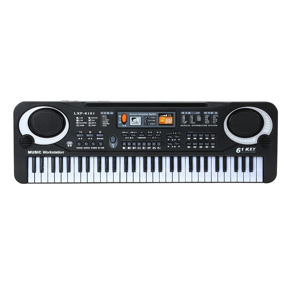 61 Keys Black Digital Music Electronic Keyboard Key Board Electric Piano Kids Gift Musical Instrument