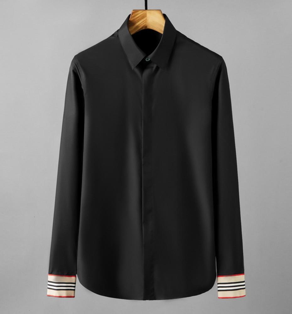 Новый Catwalk Роскошные Мужчины Манжета Khaki Лоскутная Воздушная Рубашка Мужчины Дизайн Оригинальный Slim Fit Противопострадальный Случайная Рубашка с длинным рукавом