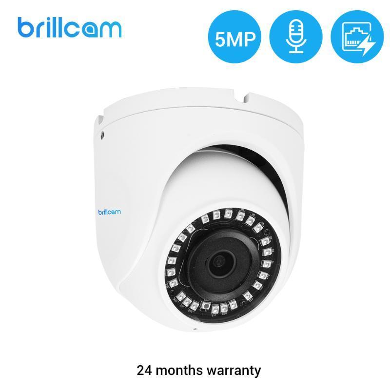 Brillcam ao ar livre IP Câmera Poe 5MP À Prova D 'Água Infrared Night Vision Onvif Movimento Detecção Dome Smart Home Video Vigilância