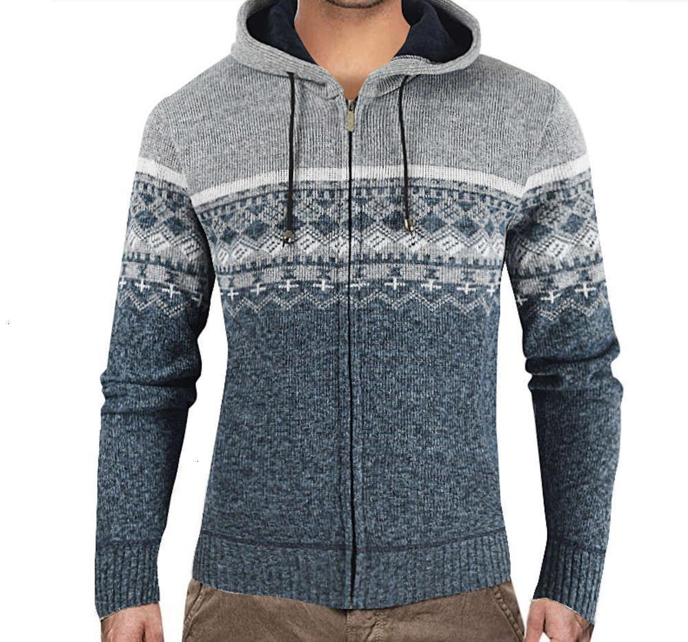 2021 Зимний Новый Мужской Кашемический свитер Контрастный Свитер Корпоративная Настилка вязаное кардиган