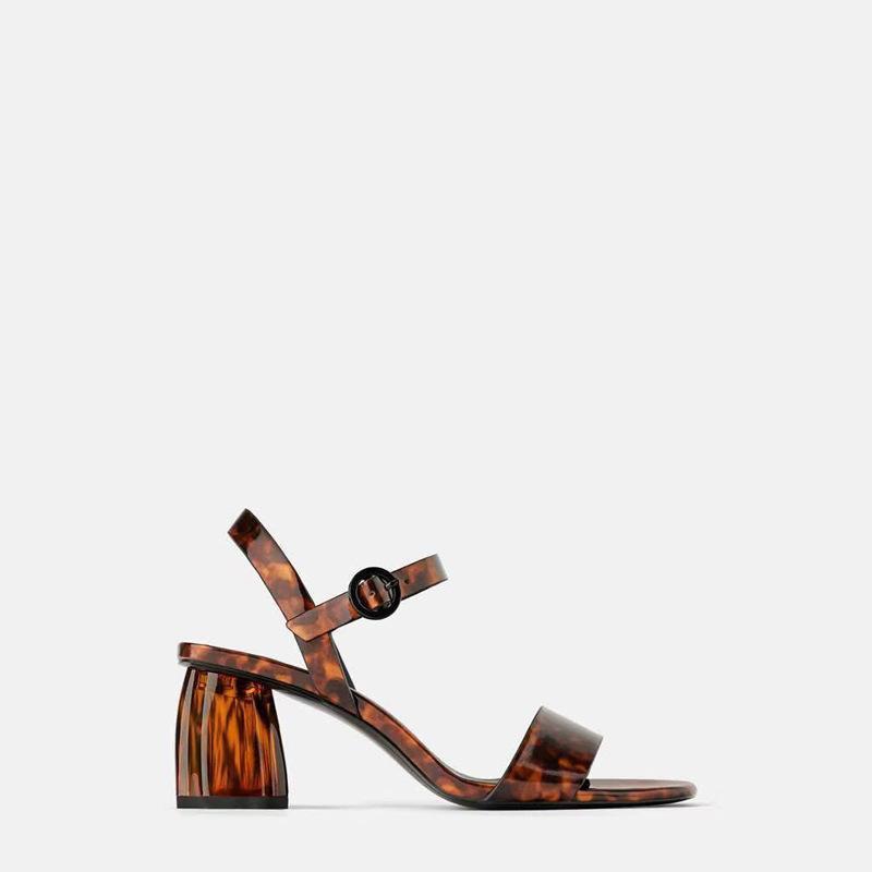 الصنادل 2021 مصمم أحذية الترفيهية مثير السلحفاة المرأة الصيف كعب سميك زقزقة اصبع القدم عالية الكعب