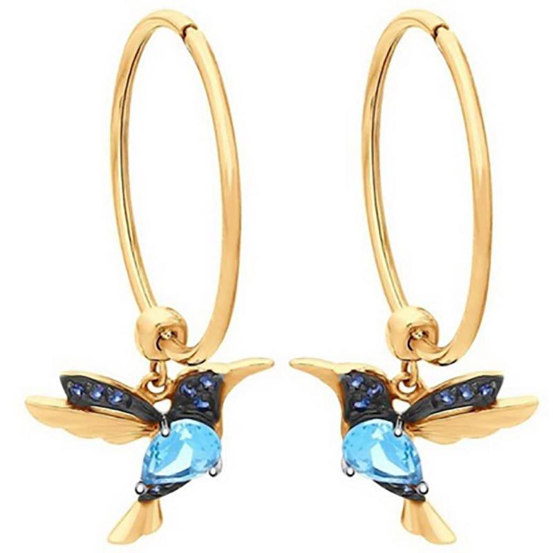 Pendientes de aro redonda exquisita y elegante Pendientes colgantes de cristal colgando Pendientes de oro Lleno de oro para mujeres Joyas de boda