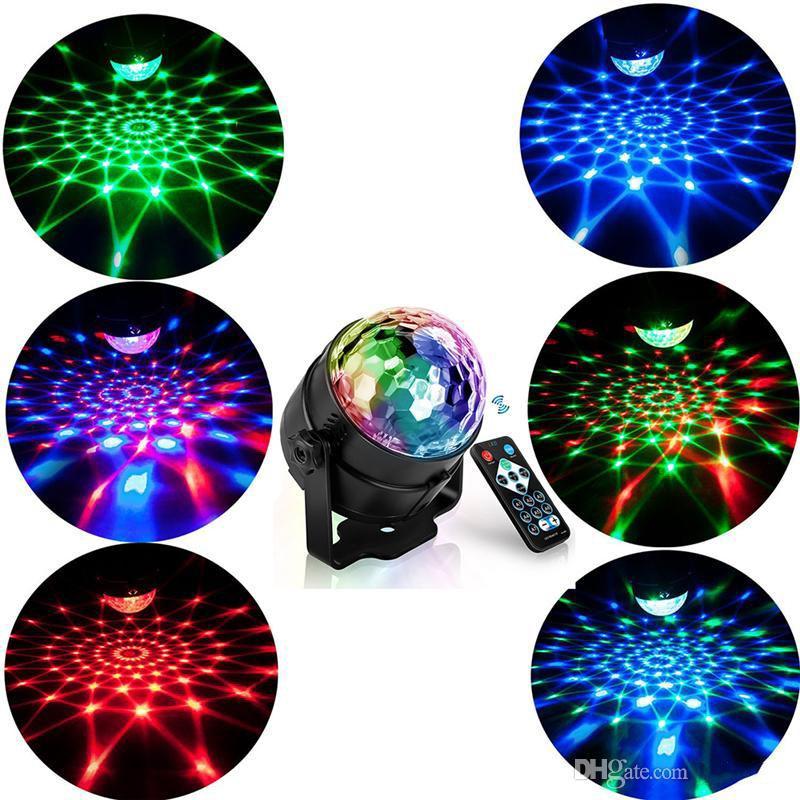 RGB LED Parti Etkisi Disko Topu Işık Sahne Işık Lazer Lambası Projektör RGB Sahne Lambası Müzik KTV Festivali Parti LED Lamba DJ Işık