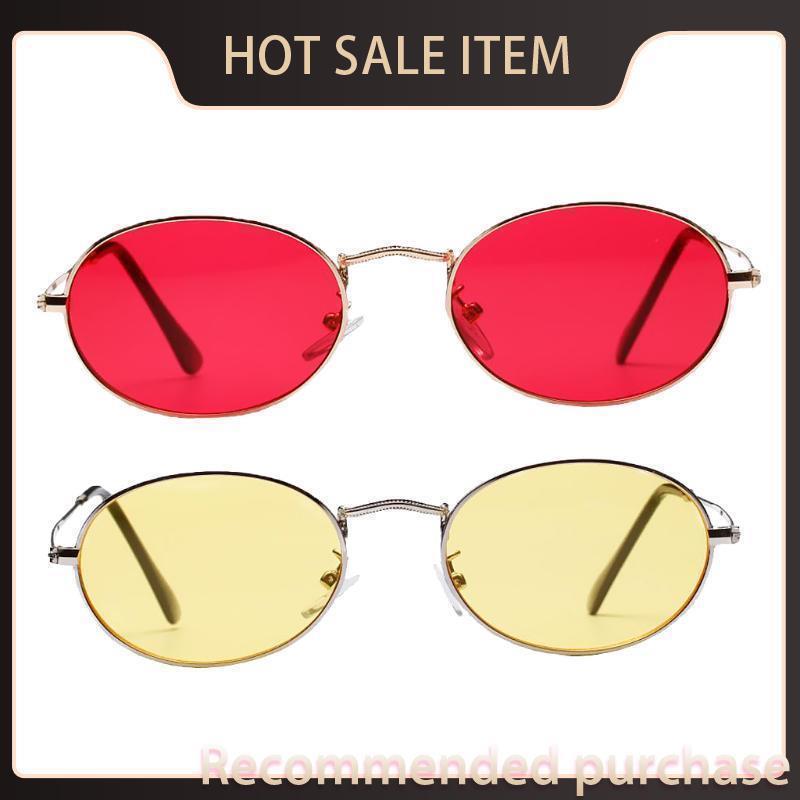 Линза Sun JBTH Овальные ретро стильные женские мужские солнцезащитные очки UV400 Очки Eyewear Travel Ретро 2 шт. Зеркало KCVGJ