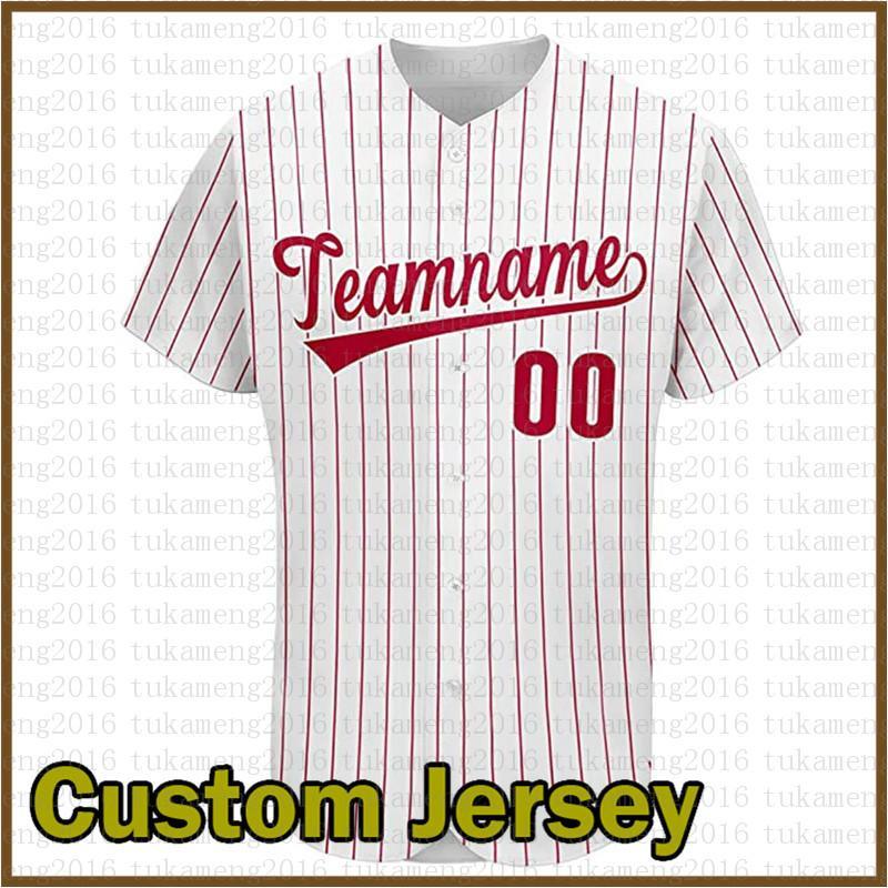 Personalizado Philadelphia Novidade Botão de Beisebol de Beisebol de Beisebol Camisa para Homens Teamany Nome e número para presente costurado branco colorido