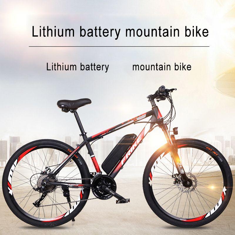 Batteria elettrica da 26 pollici Batteria al litio Mountain Bike 27 Velocità Bicicletta Bicycle Adult Variabile Off-Road Power