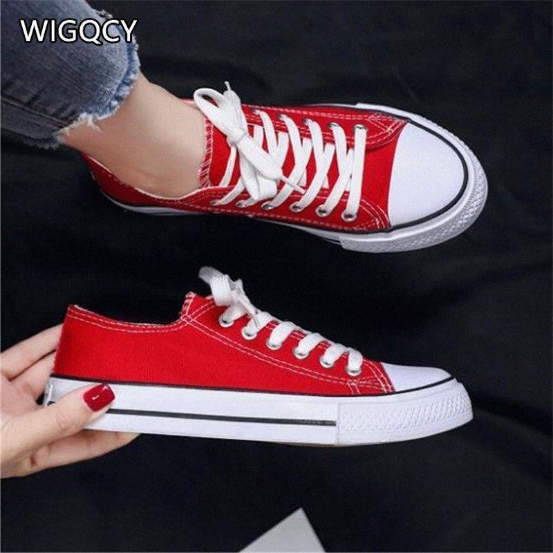 Wigqcy 2020 nuevo primavera verano otoño pareja zapatillas de deporte casual moda coreano juventud transpirable cómodo tablero zapatos A50 A3EB #