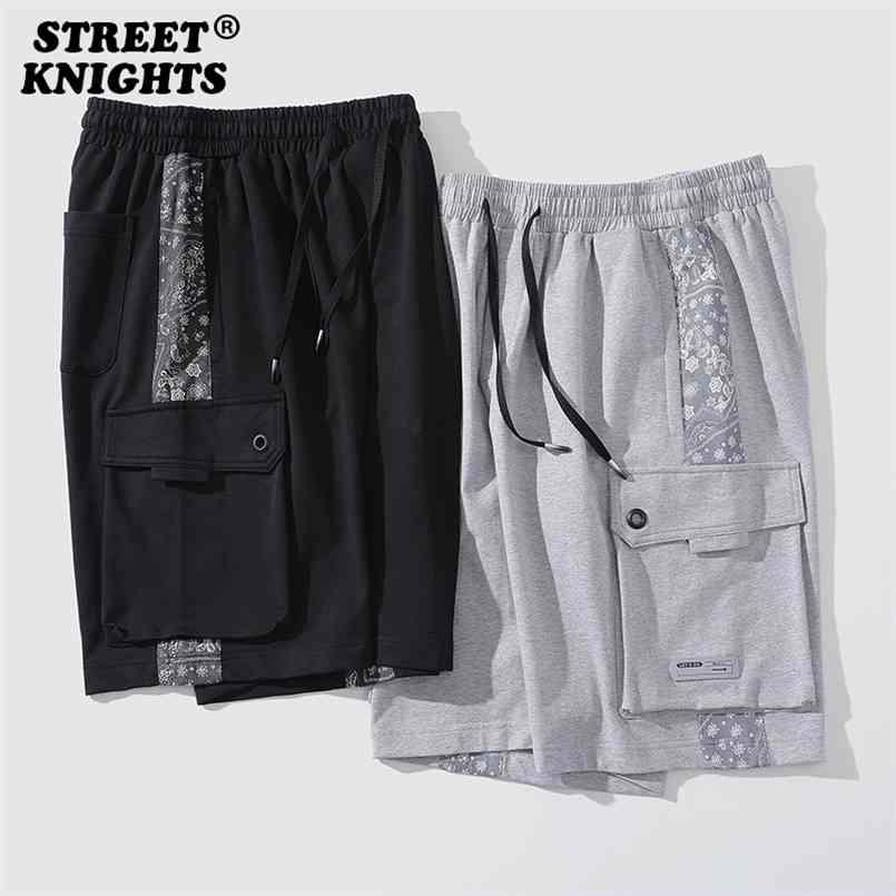 Yaz Moda Jogger Nefes Casual Erkekler Şort Rahat Gevşek Elastik Bel Hip Hop Harajuku Streetwear Kaykay 210716