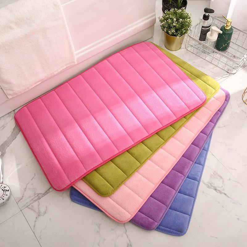 Memory Foam Bath Mat Carpets Comfortable Super Water Absorptio Non-Slip Thick Easier to Dry for Bathroom Floor Rugs OWA8840
