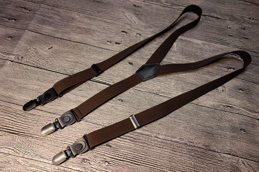 Bretelle bretelle clip-on Y-back Regolabili Bretelle resistenti regolabili Braces Unisex Fashion Braces Player Clip On Fancy Dress