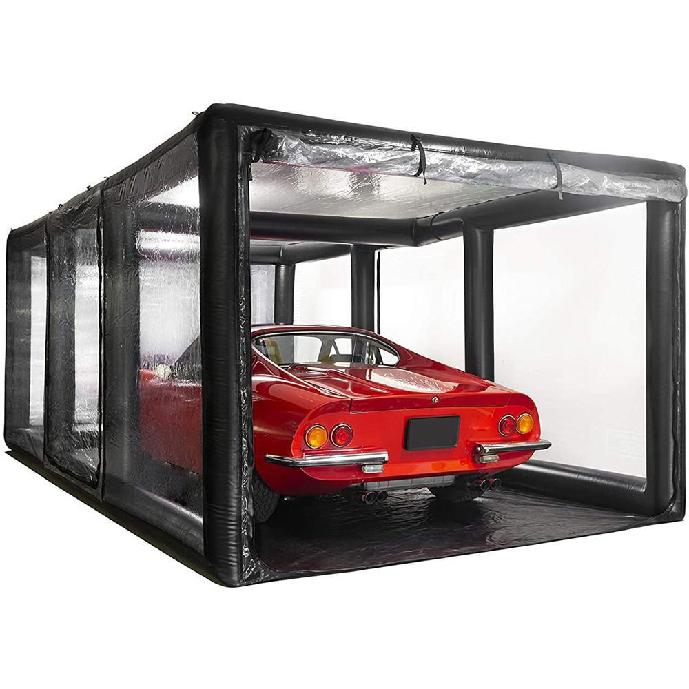 Customized Airtight painting garage inflatable spray booth PVC Car Shield Storage or trade show cover tent with pump