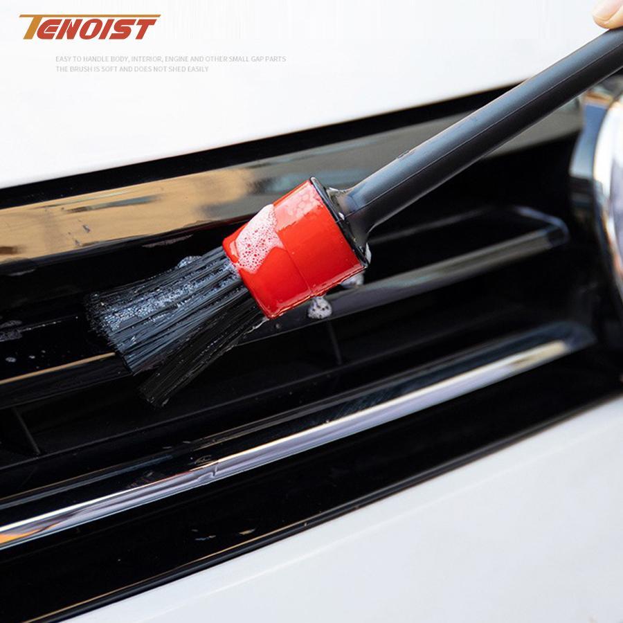 High Quality Car SUV Truck Wheel Dashboard Gap Engine Interior Exterior Fiber Plastic Handle Detailing Cleaning Brush Tool Set