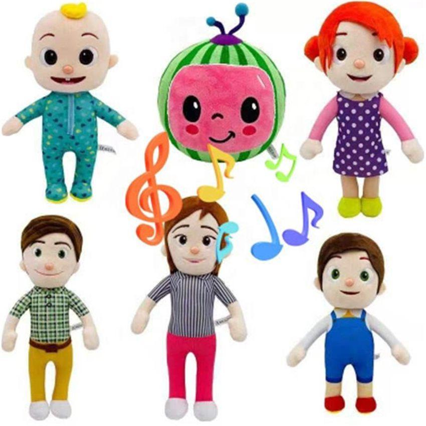 COCOMELON은 장난감 소프트 음악 만화 가족을 노래 할 수 있습니다 COCOMELON JJ 가족 자매 형제 MOM 및 아빠 장난감 DALL 키즈 Chritmas 선물