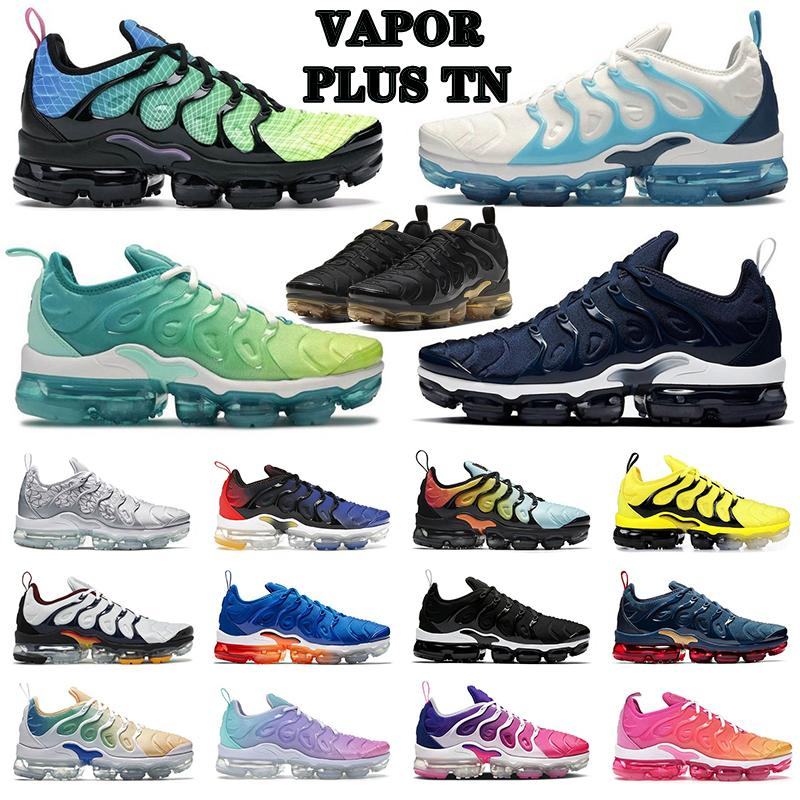 AIR VAPORMAX PLUS tn shoes Men Women Running Shoes Big Size Atlanta Triple Black White Orlando Magic Platinum Midnight Navy DMP Mens Trainers Sports Sneakers 36-47