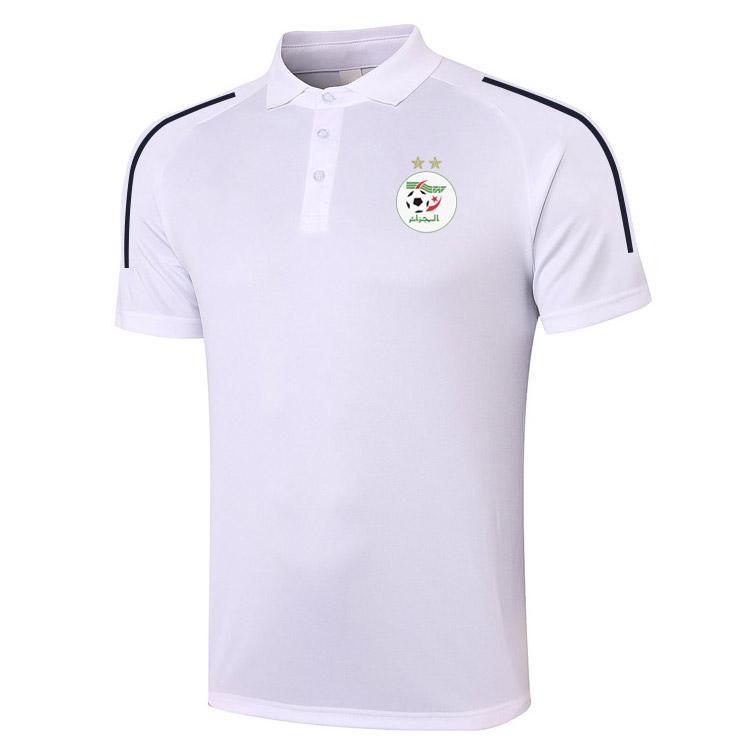 2021 Cezayir Futbol Polo Gömlek Futbol Eğitimi Polos Spor Formaları Yetişkin Futbol Kısa Kollu Polos Yaz T-Shirt Giyim erkek Polos