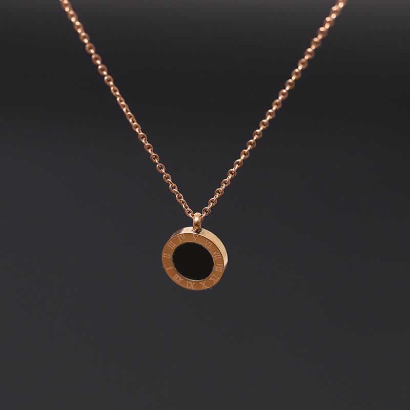 2021 Новое титановое стальное ожерелье женское цвет не исчезает