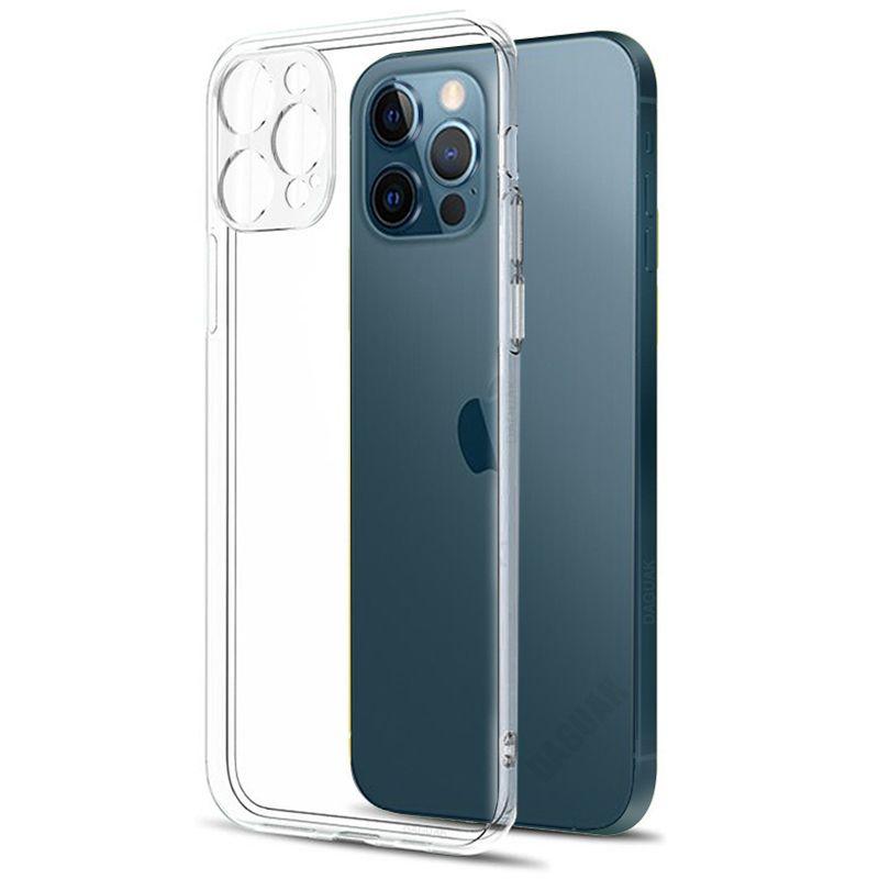 Защита камеры Прозрачный чехол для iPhone 11 12 Pro Max Mini 6S 7 8 плюс X / XS XR MAX SILICONE мягкая противодействие крышке