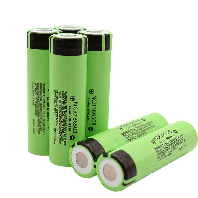 Alta qualidade ncr18650b 3400mAH 18650 bateria 3.7V bateria recarregável de li-ion recarregável para a caixa de vitela mod