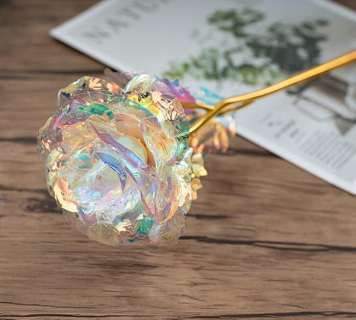 Regalo di Natale del giorno di Natale Regali creativi della rosa del foglio oro 24k Dura per sempre Rosa per il regalo della ragazza del giorno di San Valentino