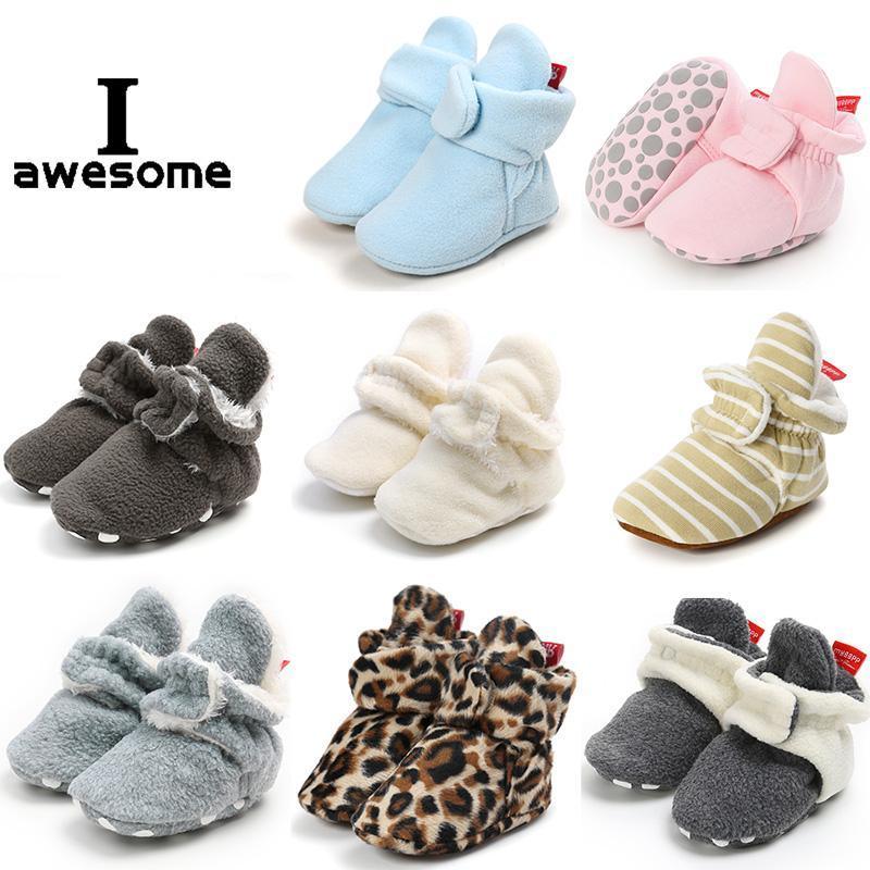 Primeiros caminhantes 2021 nascidos bebê meias sapatos menino menina estrela criança botinhas de algodão conforto macio antiderrapante bebê berço infantil