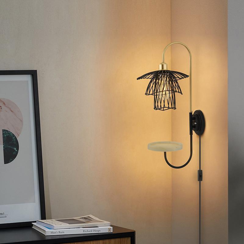 Lâmpada de parede Armazenamento Internet celebridade dormir lendo sala de estar criativo moderno e simples modelagem
