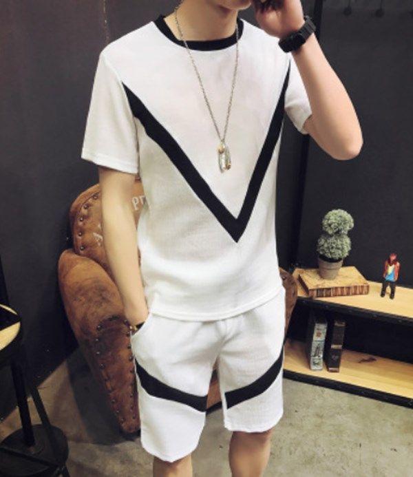 Zity T Shirt e Shorts Set Mens Summer Track Suit Tempo libero 2 pezzi Outfit per uomo Casual Tracksuit maschile Jogger Set Ropa Para1