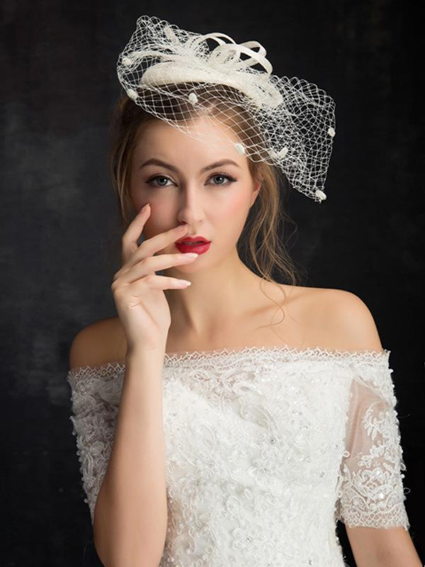 Top Hat Ladies Hats Bridal Wedding Veil Accessories British Wild European and American Adult Double Bed Mesh