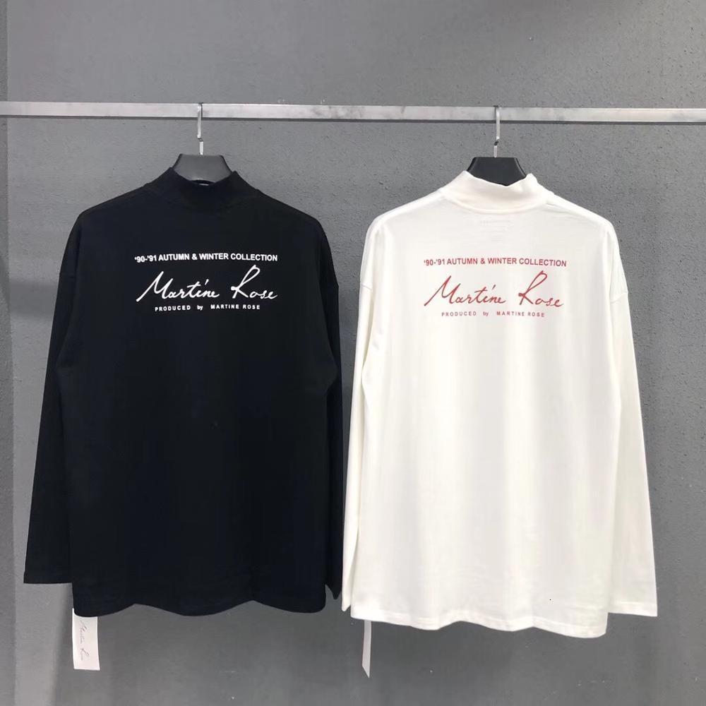 2021 Новые футболки негабаритные 1: 1 Мельхор Qualidade Real Tags Estilo Vero Topo Streetwear Martine Rosa T Camisa Masculina H6VP
