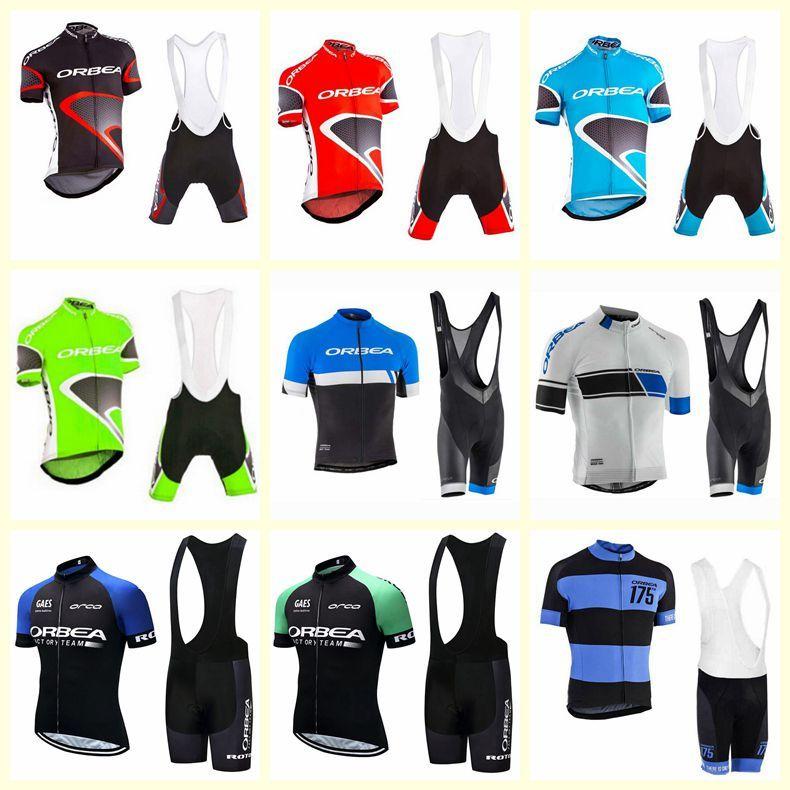 Orbea Takımı Bisiklet Kısa Kollu Jersey Önlüğü Şort Setleri Yeni Erkek Yaz Hızlı Kuru Giyim Maillot Dağ Bisikleti Üniforma S21030247