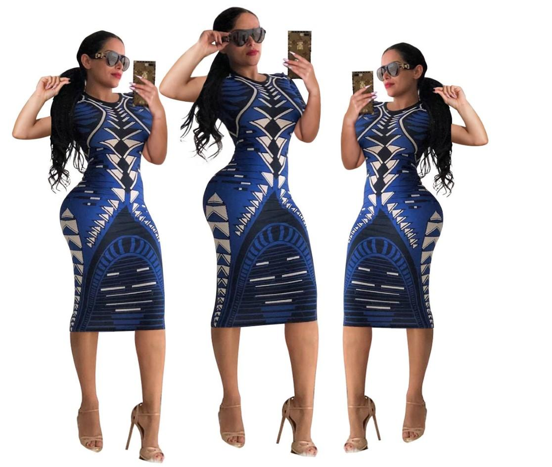 Women Style Dress Print Multicolor Sexy Fashion Late night Shows Womens Jupe Sex Summer Style Clothing Hot New 2021