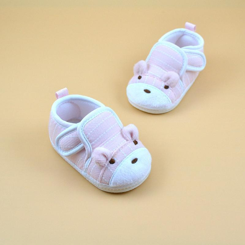 Newborn Toddler Kids Girls Shoes Soft Sole Cartoon Cotton Anti-slip Shoes Comfortable Cotton Toddler Baby Baby First Walk
