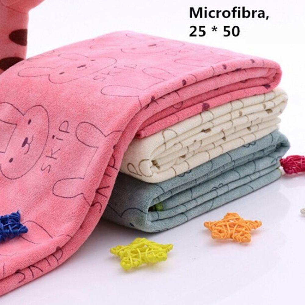 Toalha de banho de praia de bebê de microfibra de coelho para banhos de banho absorvente seco 20 * 50 cm
