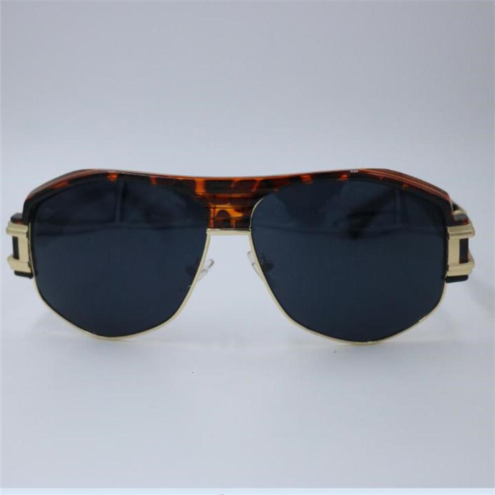 Kapelus New Style Metal 671 Leopard Half Rundung Sonnenbrille UV-Schutz 400