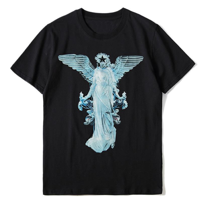 Мода Мужская Узор Шаблон Принт T Рубашки Черные Моды Мужчины Женщины Высокое Качество Коротким Рукавом Tees S-XL