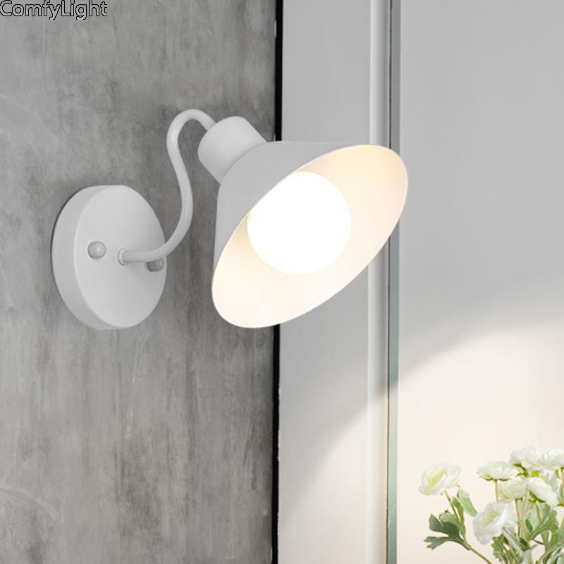Lâmpada de parede Moderna LED Bedside Quarto Loft Home Designer Sala de estar E27 Corredor Atelier El Espelho Lâmpadas Holtel